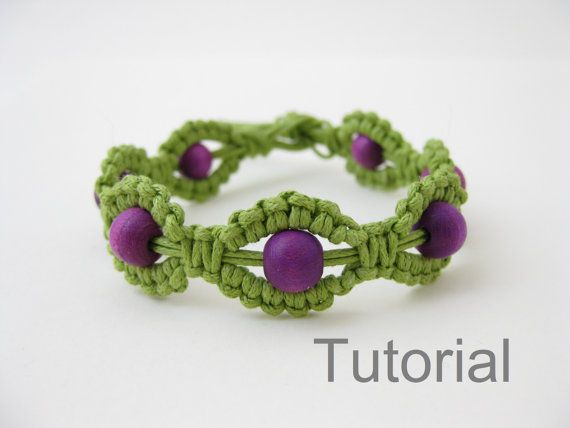 macrame bracelet instructions pattern pdf tutorial jewelry green and purple diy how to beginners. Black Bedroom Furniture Sets. Home Design Ideas