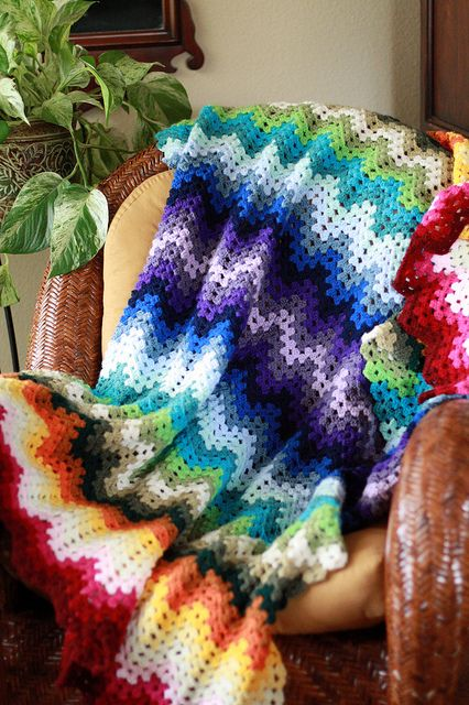 Granny Ripple Afghan, hooked by callmesusan from Project Linus free ...