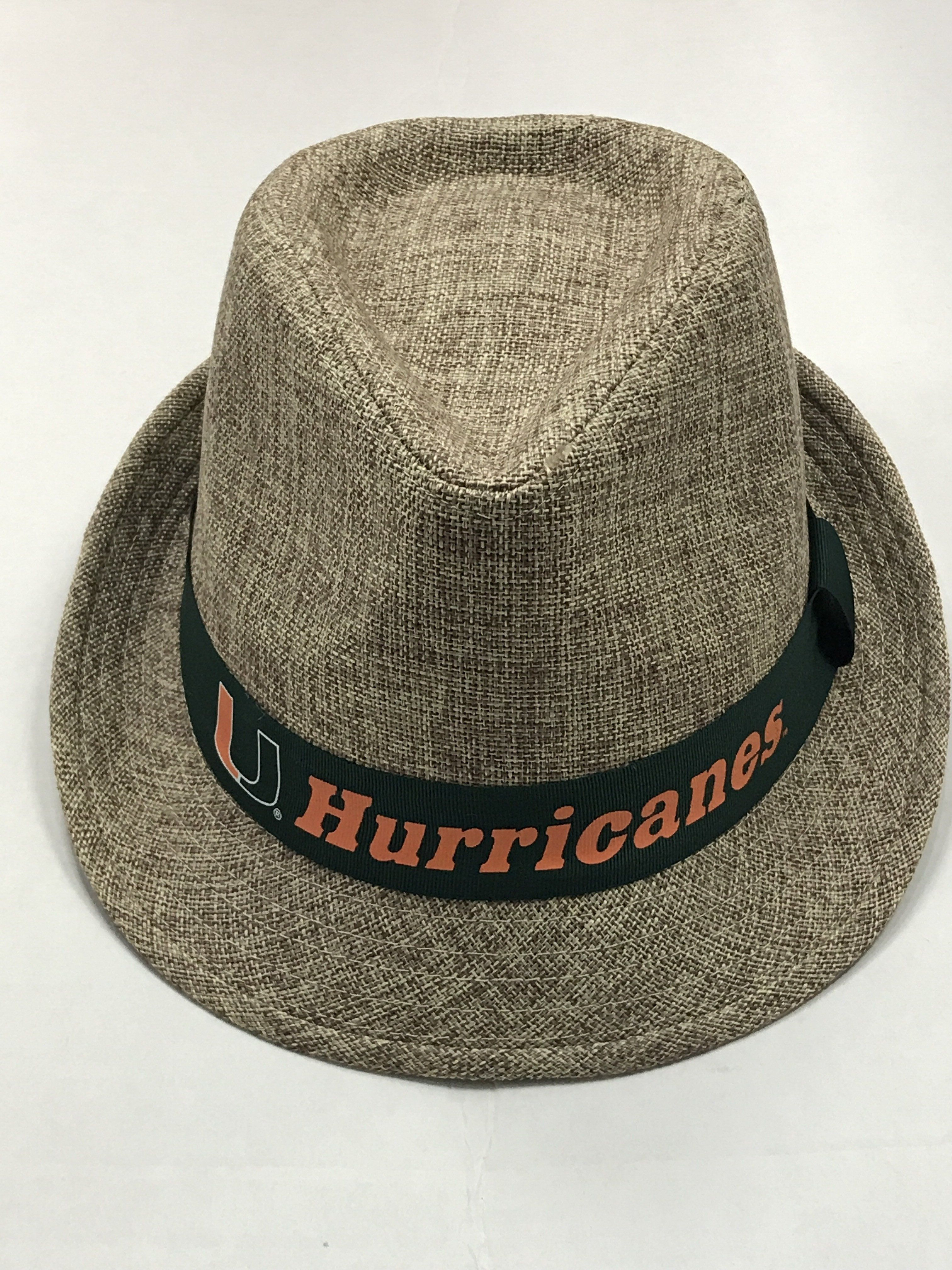 56a6d1cc Miami Hurricanes Top of the World First Class Fedora Hat   CanesWear ...