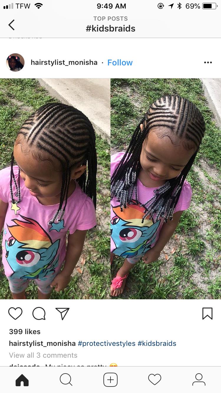 Mes amours Cheveux d'enfant en 2019 Coiffure fillette