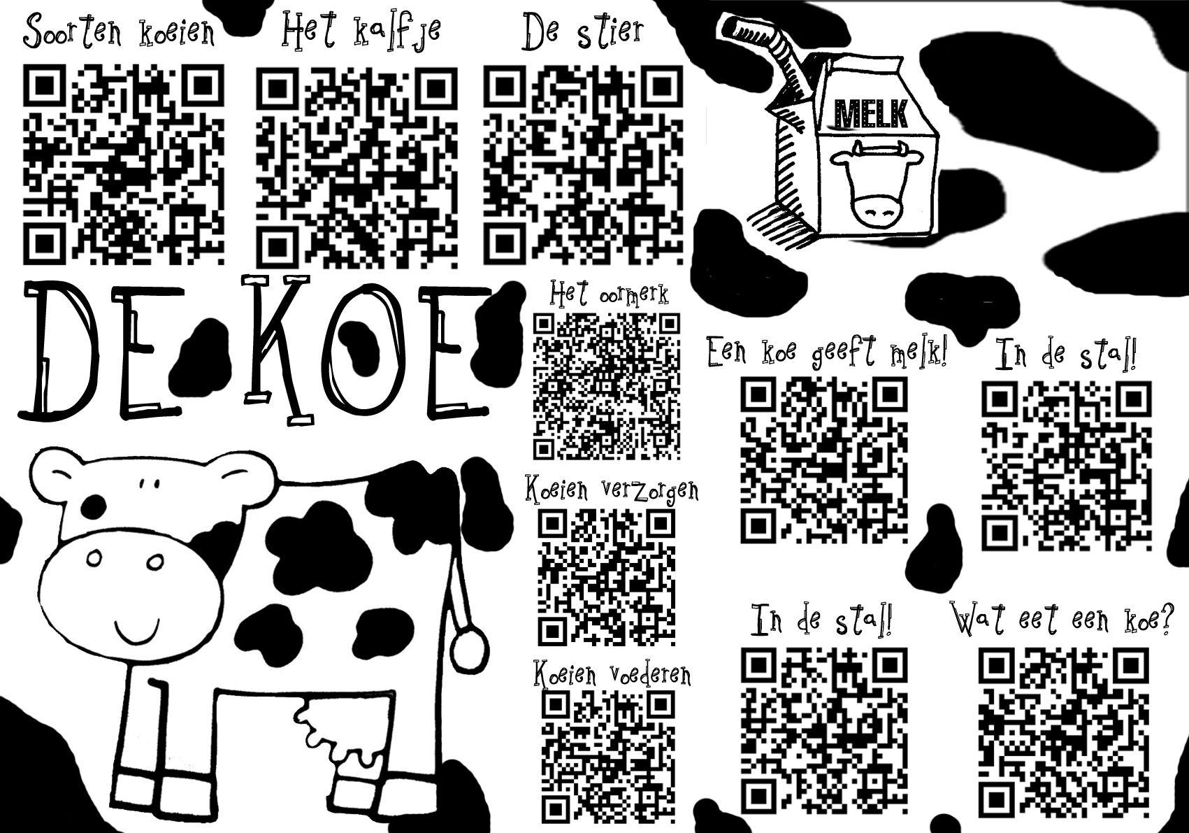 pin marga reimink op qr codes koeien en prentenboeken