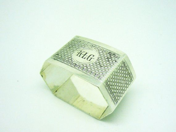 Solid Silver Napkin Ring Sterling Serviette by DartSilverLtd