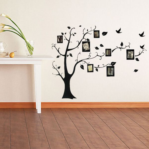 Marco de la foto etiqueta de la pared la foto de familia del árbol ...