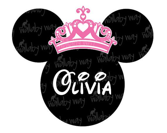 Minnie With Princess Crown Printable Iron On Transfer Or