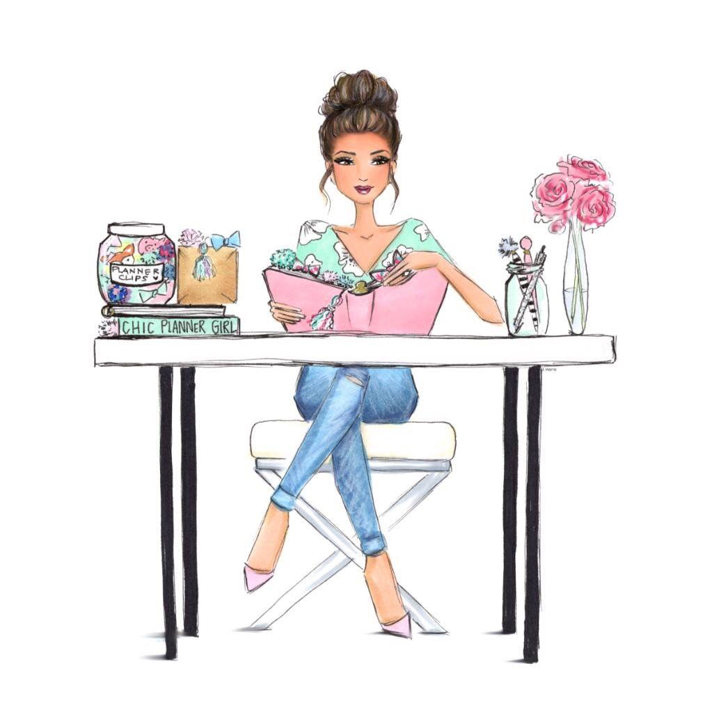 Chic Planner Girl | Glam Planner in 2019 | Illustration ...