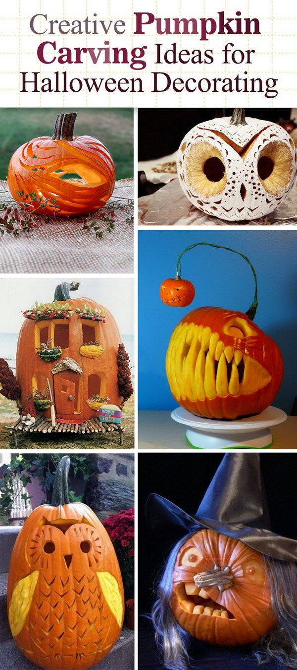 Creative Pumpkin Carving Ideas for Halloween Decorating! | Fall ...