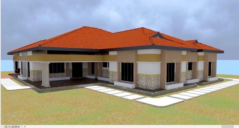 4 Bedroom Bungalow House Plan With With Car Ports Muthurwa Com Bungalow House Plans House Roof Design Bedroom House Plans
