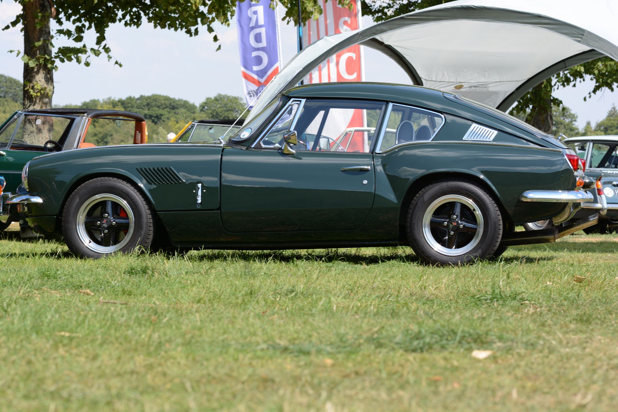 Triumph GT6 in Laurel Green - looking Fabulous ...