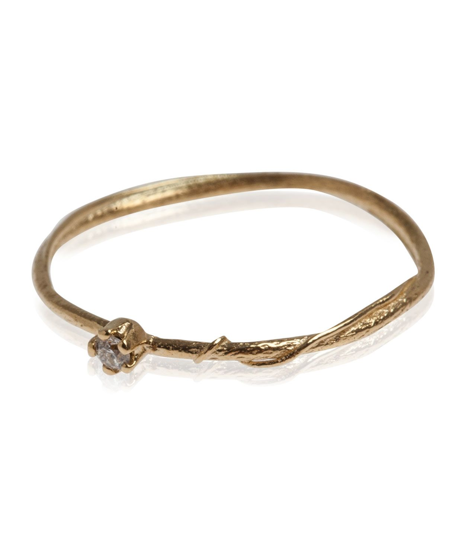 18ct Gold Teeny Tiny Diamond Ring, Alex Monroe. Shop the latest ...