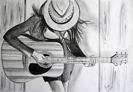 Easy Pencil Sketches Of Girl With Guitar Chelss Chapman