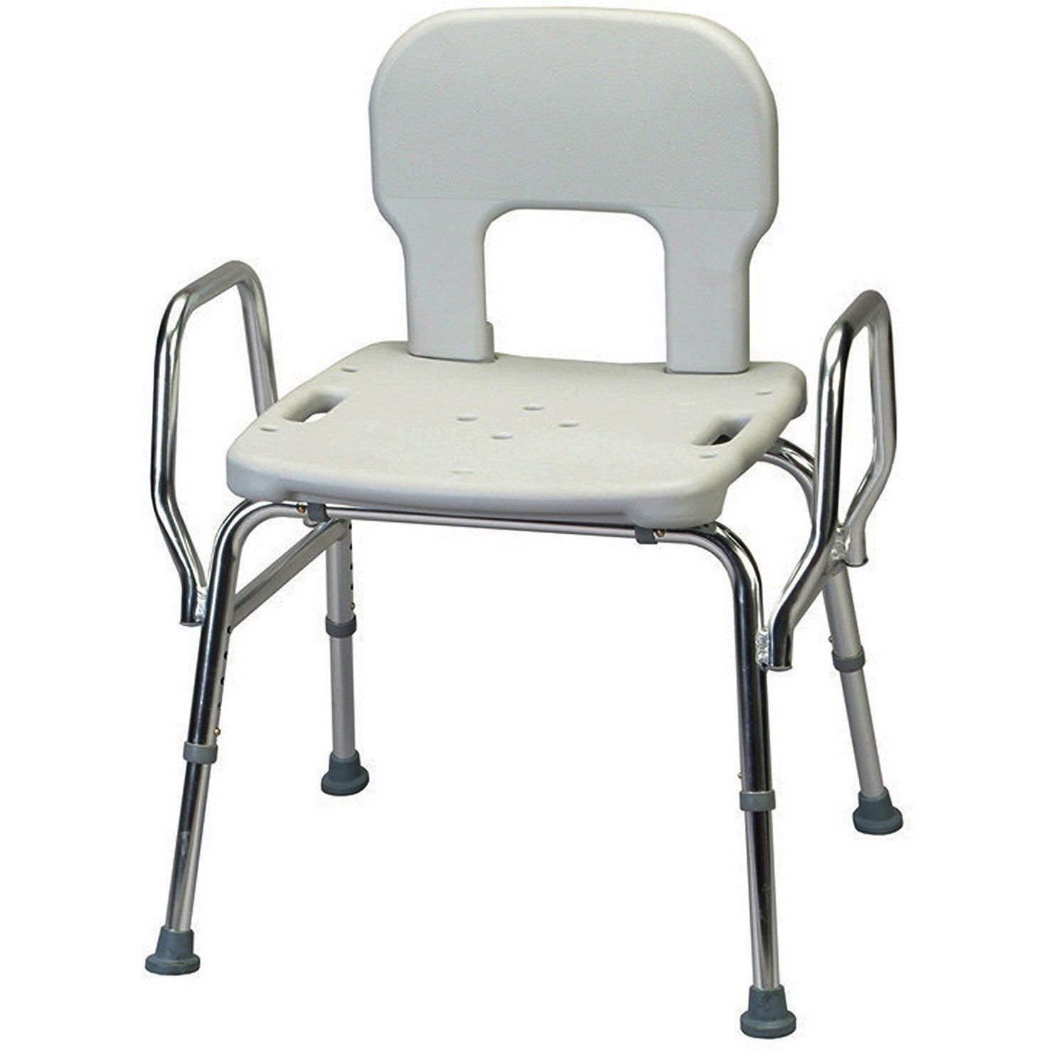 Shower Chair With Back And Armrests Panasonic Massage Repair Eagle Health Bariatric Heavy Duty Bath Arms 500 Lbs