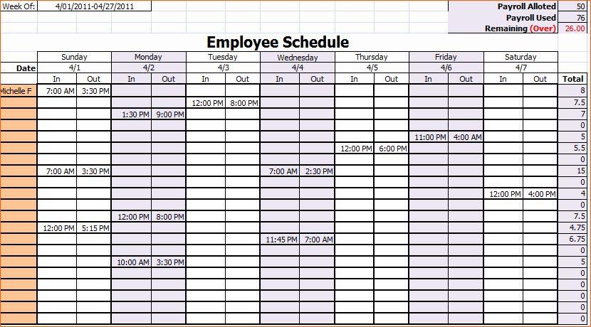 Printable Employee Schedule Template Monthly Schedule Template Employee Schedule Template Weekly Schedule Template