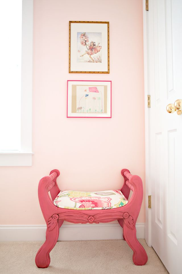 That pink bench nice monochrome tricks rosatre girls - Good colors to paint your room ...
