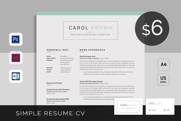Resume Template 3 Page CV Template by UX-group on - group resume template