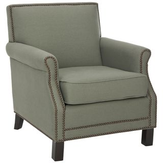 @Overstock - You may find that this gray club chair is the best seat in the house with its thick and comfortable padded seat and back. This chair is crafted of linen and features classic nailhead details along the front for added visual interest.http://www.overstock.com/Home-Garden/Mansfield-Grey-Club-Chair/6002290/product.html?CID=214117 $355.49