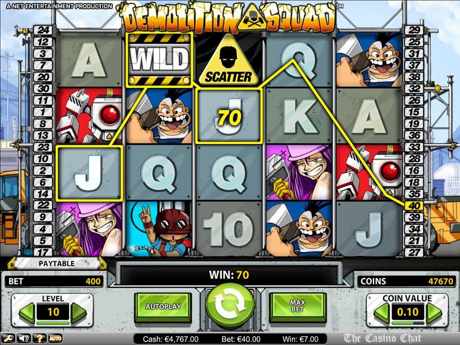 Demolition Squad NetEnt Slot Game Casino, Slots games