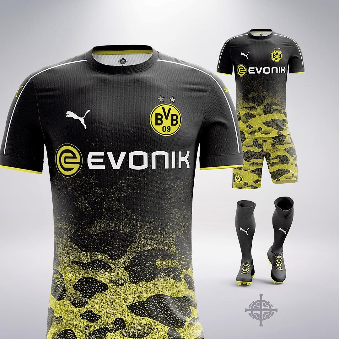 30aade5b Puma x BAPE Inspired Football Kit Concept for Borussia Dortmund by  @SETTPACE . What jersey should I do next?