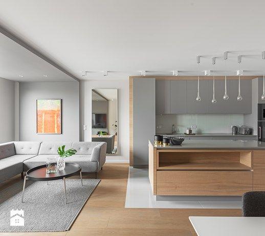 Aranzacje Wnetrz Kuchnia Minimalistyczny Apartament W Krakowie 2016 Srednia Otwarta Kuchnia Jedno Apartment Interior Design New Kitchen Cabinet Doors Home