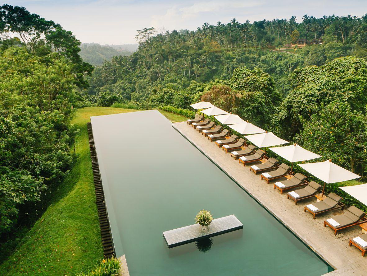 11 breathtaking infinity pools  Hotel pool, Ubud hotels, Cool pools