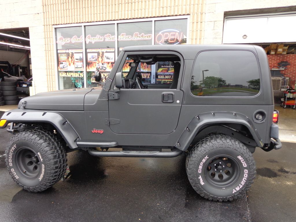 Matte Black Wrapped Jeep Wrangler Vehicle Wraps In 2020 Jeep Wrangler Jeep Jeep Wrangler Matte Black