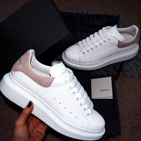The best sneakers ALEXANDER MCQUEEN WHITE/SHOCK PINK For running