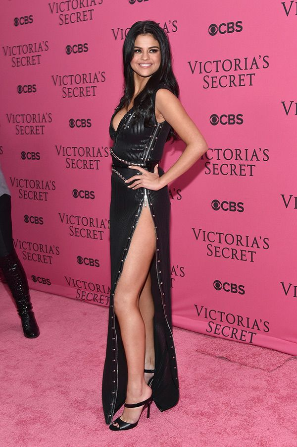 Selena Gomez attends the 2015 Victoria's Secret Fashion Show at Lexington Avenue Armory on November 10, 2015 in New York City. (Photo by Mike Coppola/Getty Images for Victoria's Secret) ...