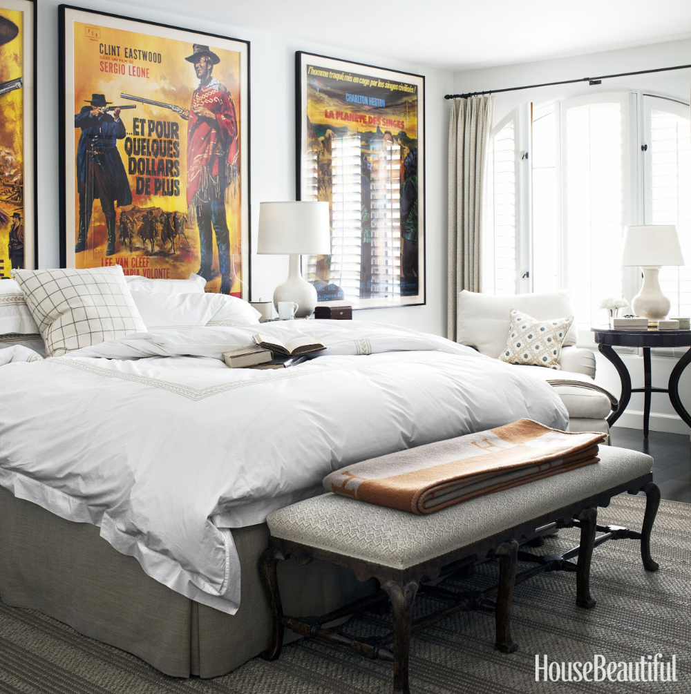 Decorating With Movie Posters Bedroom Design Stylish Bed