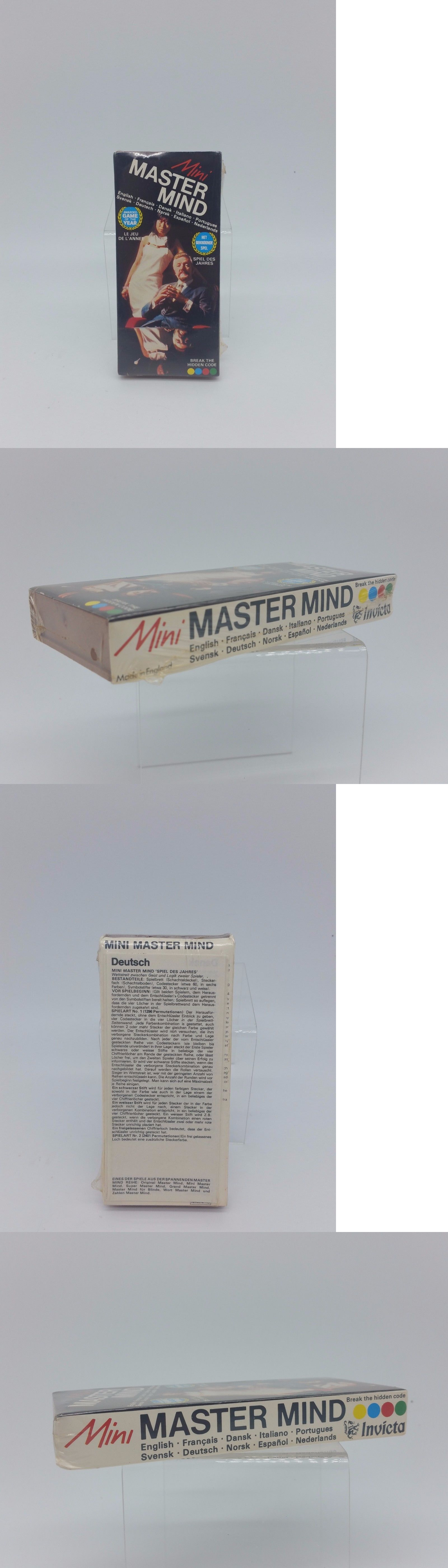Vintage manufacture 19100 vintage nos mini master mind travel game by invicta brand new factory