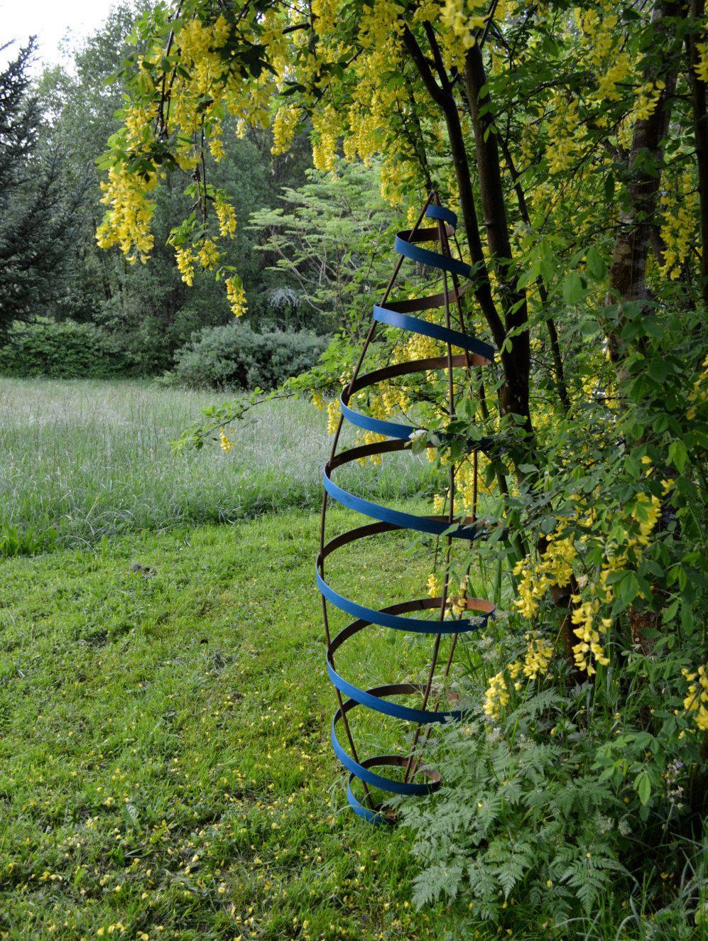Rocket Sculpture, Tall Garden Trellis, Large Rocket Shaped Sculpture