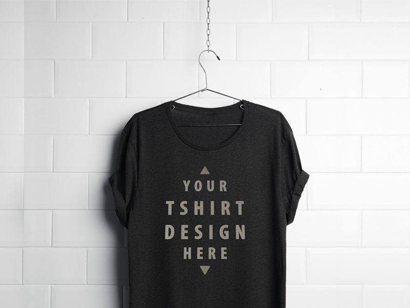Free Realistic Hanging T-Shirt Mockup PSD Mock-ups Pinterest - t shirt template
