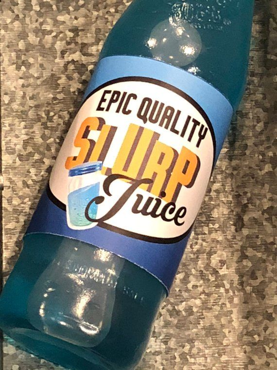 Fortnite Birthday Slurp Juice Printable Bottle Wraps