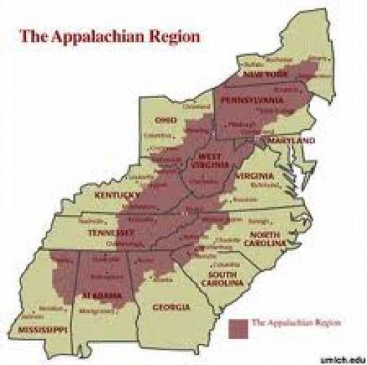 Appalachia Dispelling The Myth Other Folk And Hillbilly - Us hillbilly map