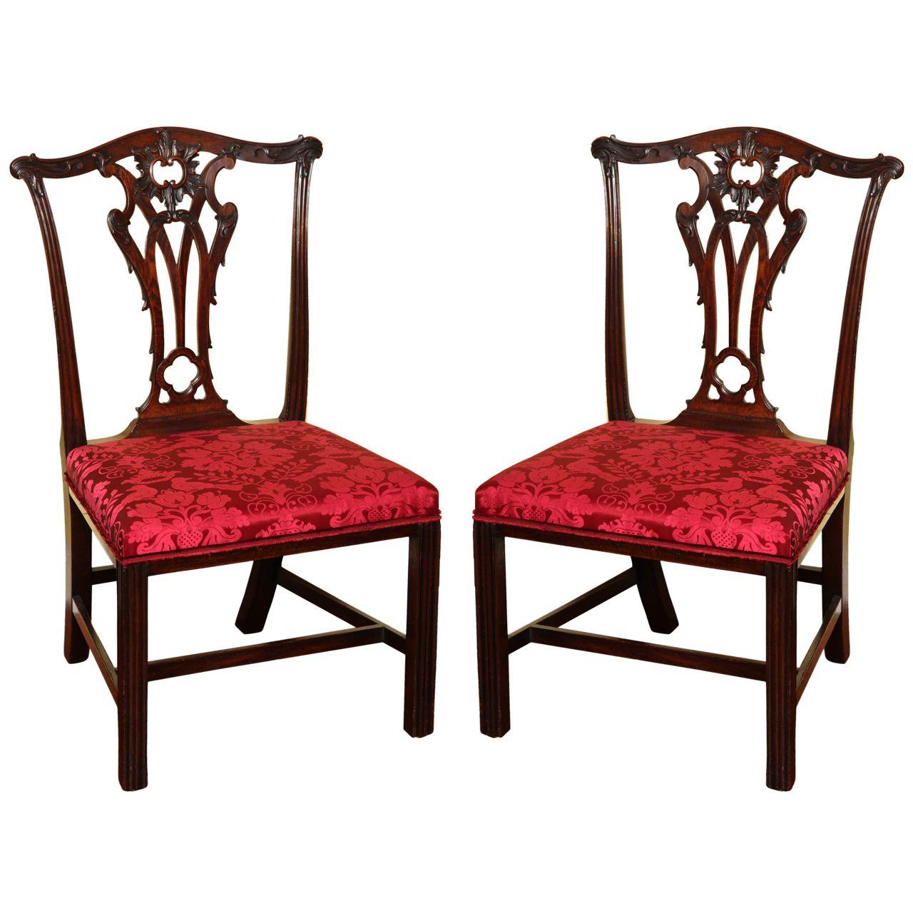 1stdibs.com   Set Four Antique Chippendale Period Mahogany ...