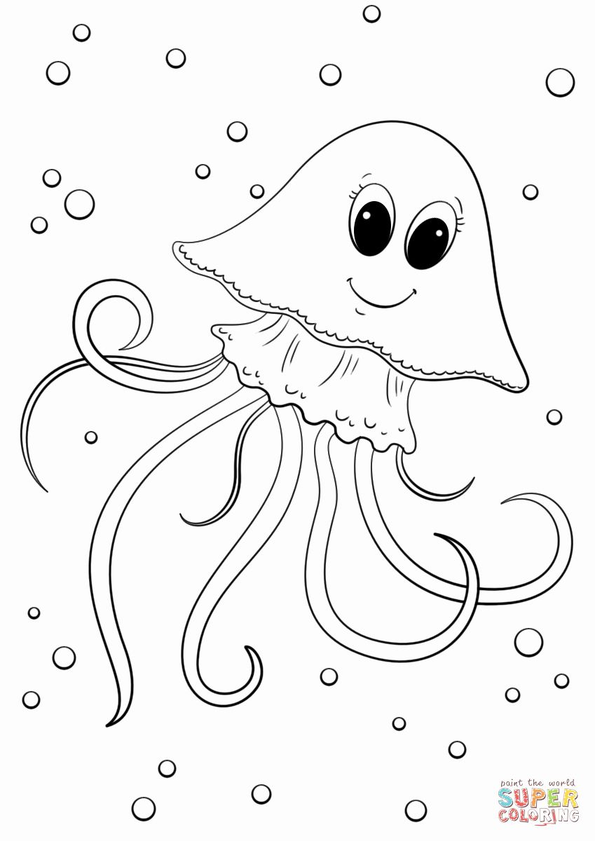 23+ Cute jellyfish coloring pages ideas in 2021