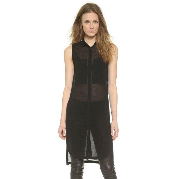 Helmut Lang Swift Sleeveless Shirt ($345) ❤ liked on Polyvore