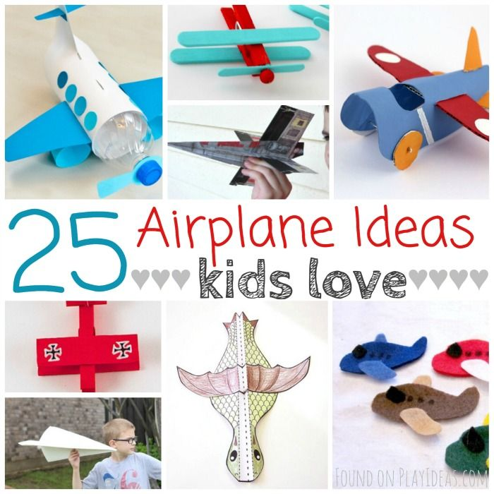 25 airplane projects kids love play ideas kid for Airplane crafts for toddlers