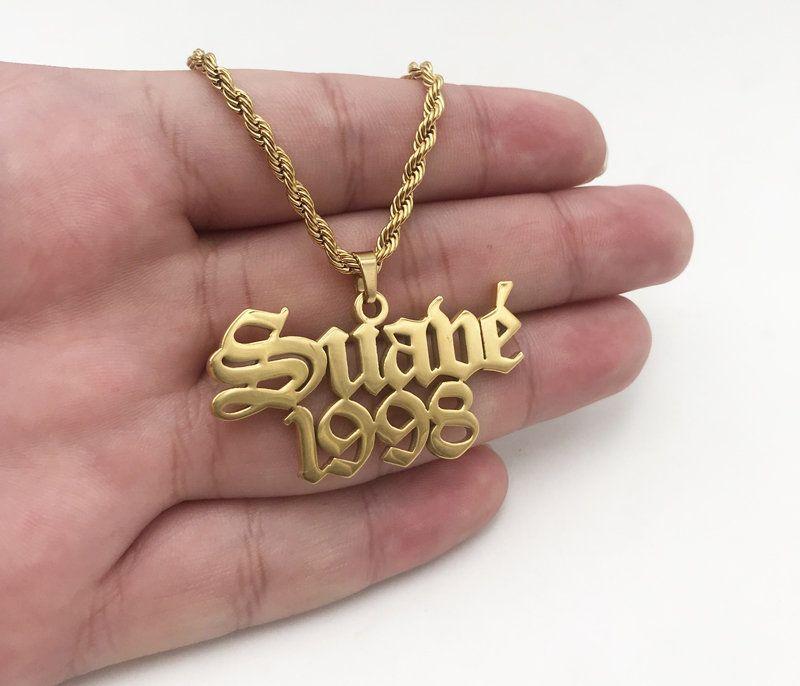Photo of Personalisierte Herren-Halskette – Benutzerdefinierte Herren-Namensschild-Halskette – …