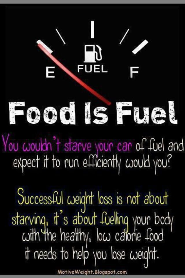 Food is just fuel. You need it.