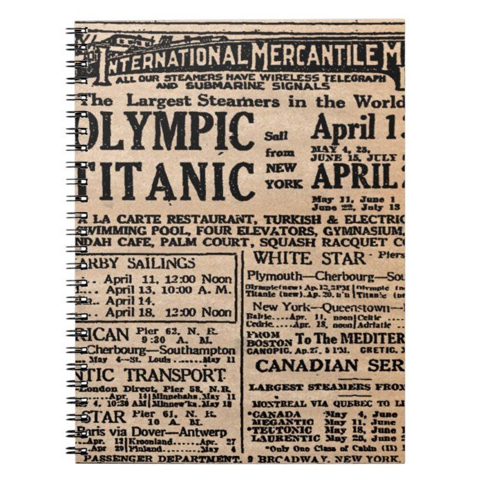 This vintage Titanic Newspaper Ad Print looks great on your items. It breathes history. Look stylish and add that 1910s look with this amazing piece!