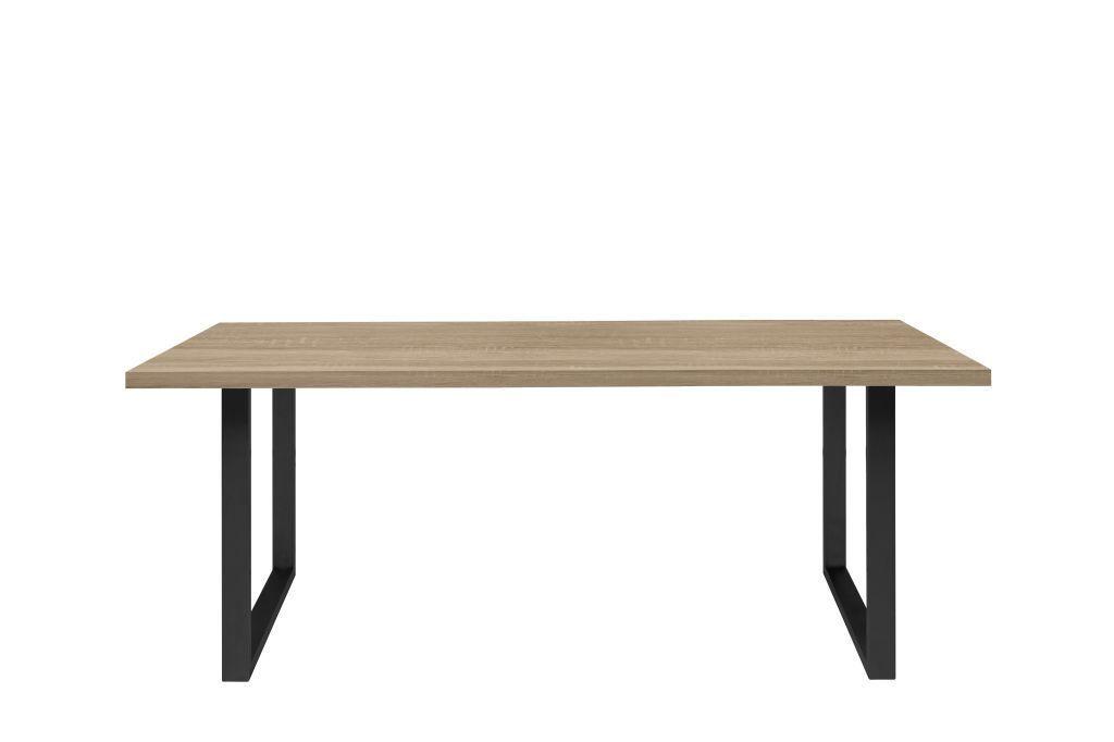Esstisch 180 X 90 Cm Tables Sonoma Eiche Metall Schwarz