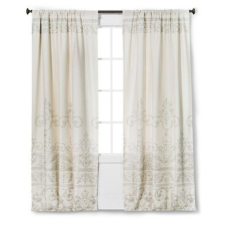 Vintage Gate Curtain Panel Cream The Industrial Shop Target Panel Curtains Industrial Shop Curtains