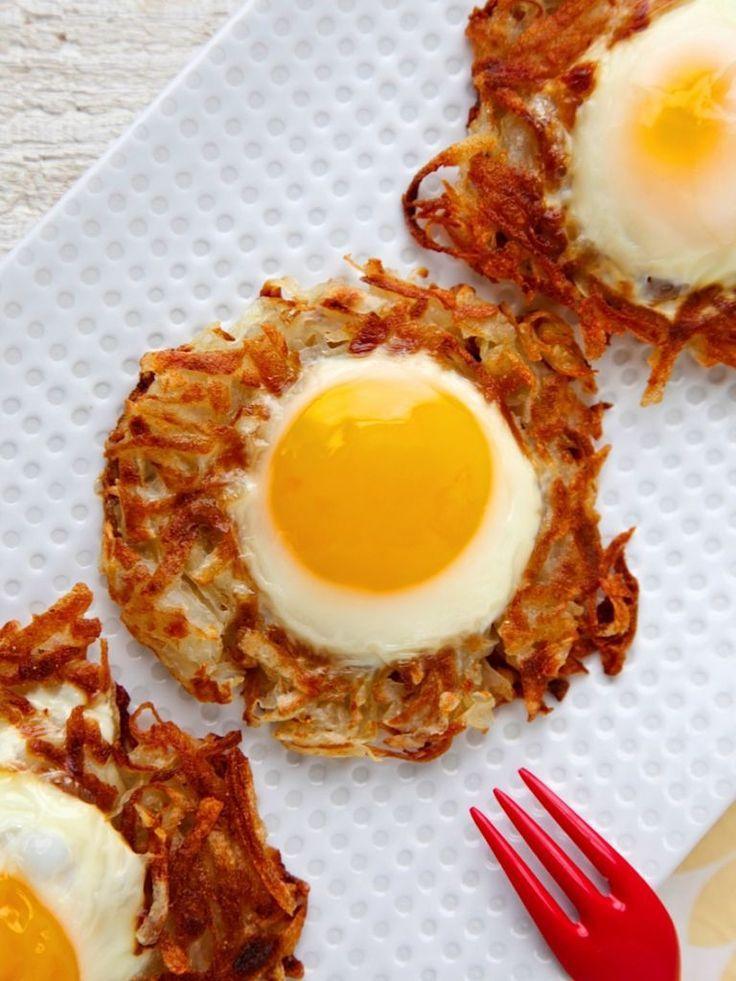 Egg and Crispy Potato Nests images