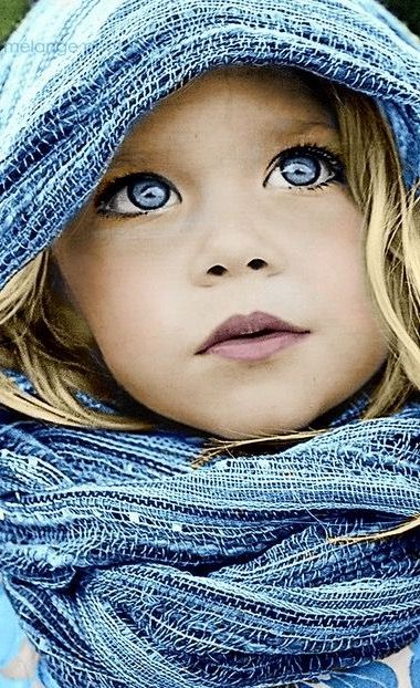 What a strikingly beautiful little girl!
