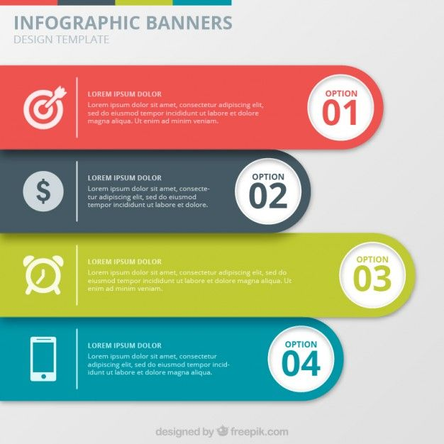 Infographic Banners Collection Free Vector  Design Info - free comparison chart template