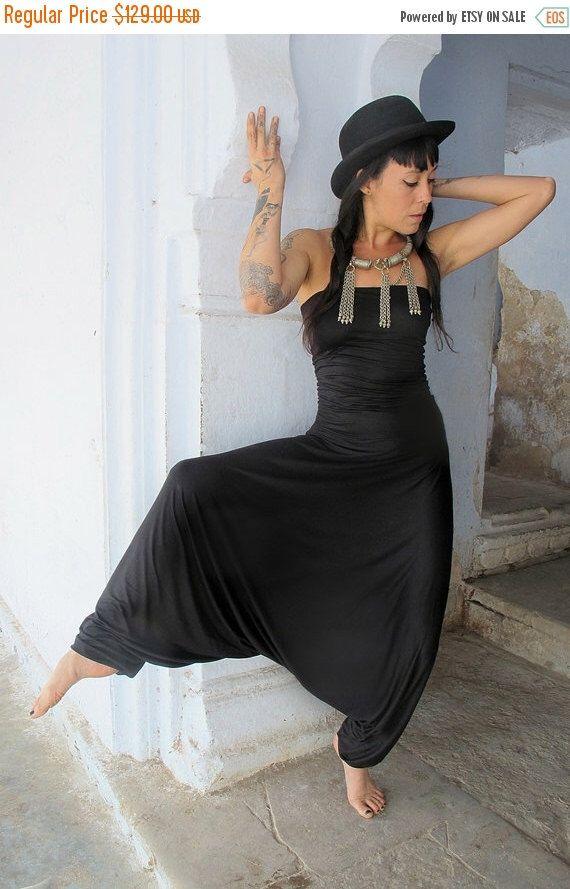 d607cb0039c8 Black harem jumpsuit woman bohemian strapless jumpsuit women jpg 570x889 Rompers  black strapless harem jumpsuit