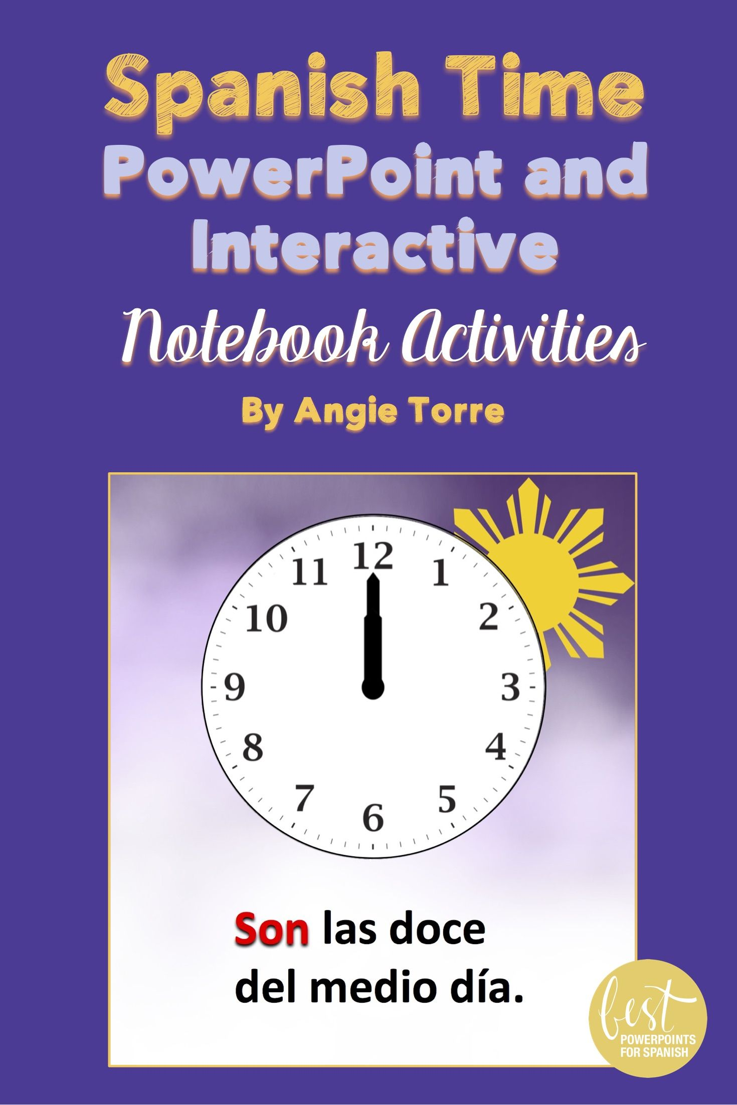 Spanish Time La Hora Powerpoint And Interactive Notebook
