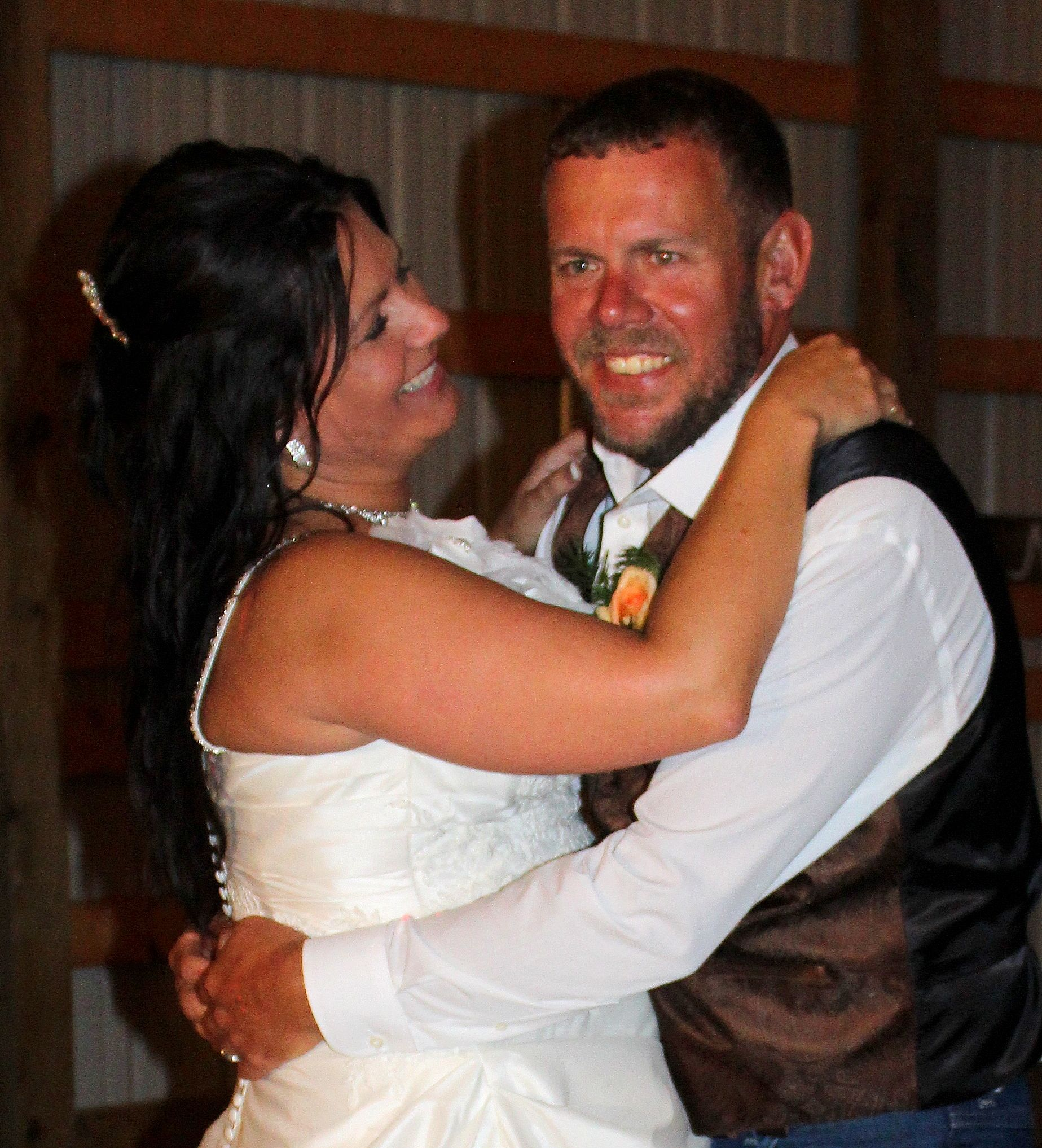 "Our first dance as husband and wife...""I Don't Dance"" Lee Brice"