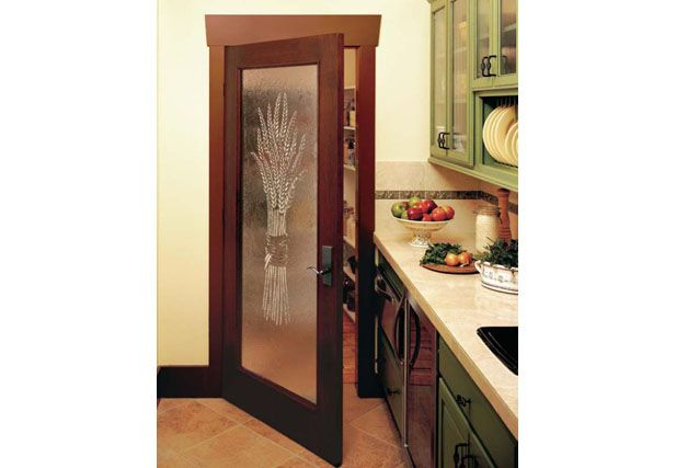 Custom French Interior Door With Etched Glass Jeld Wen Etch