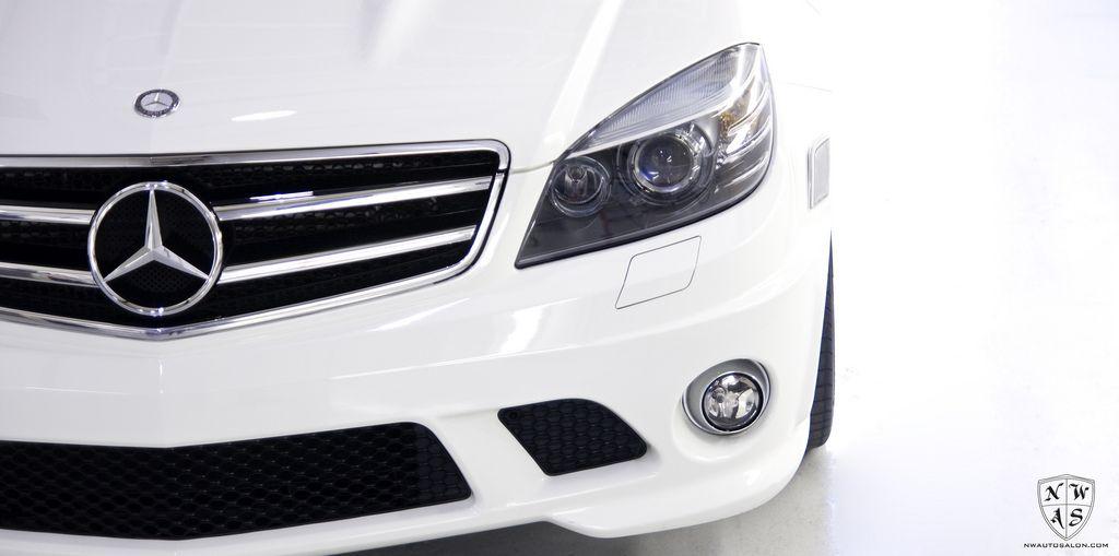 White Mercedes C63 Amg Full Detail Interior And Jean Transfer