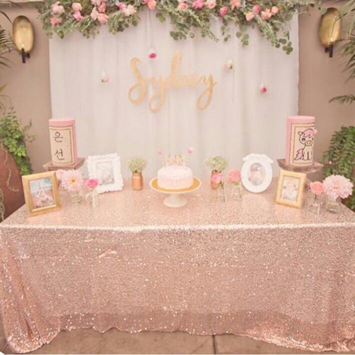 Shower Birthday Party Table Decorations Rose Gold 21st Themes Bridal